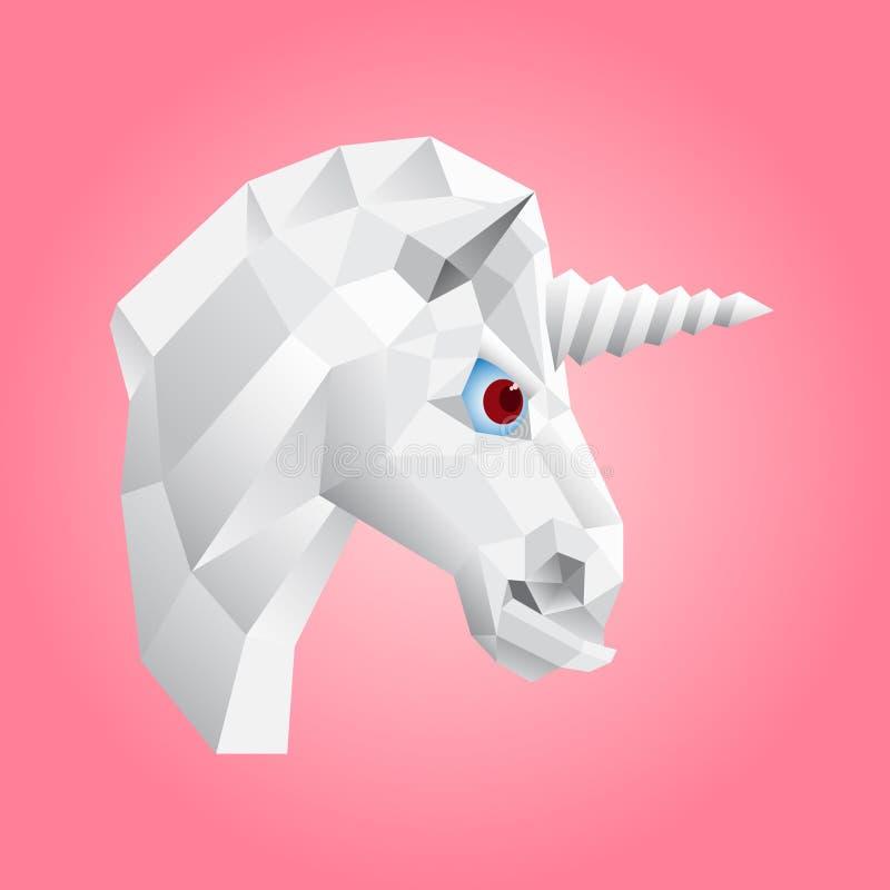 The unicorn`s head stock illustration