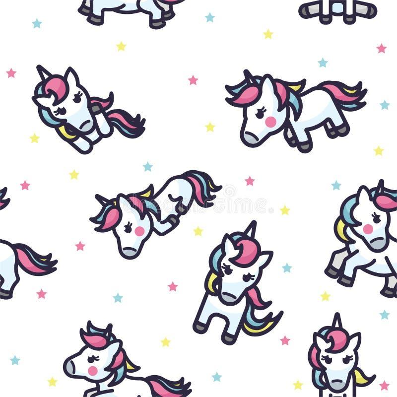 Unicorn Seamless Pattern coloré illustration libre de droits