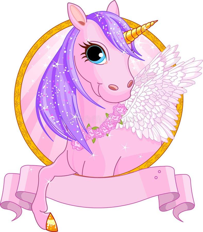 Unicorn sign. Illustration of beautiful unicorn sign royalty free illustration