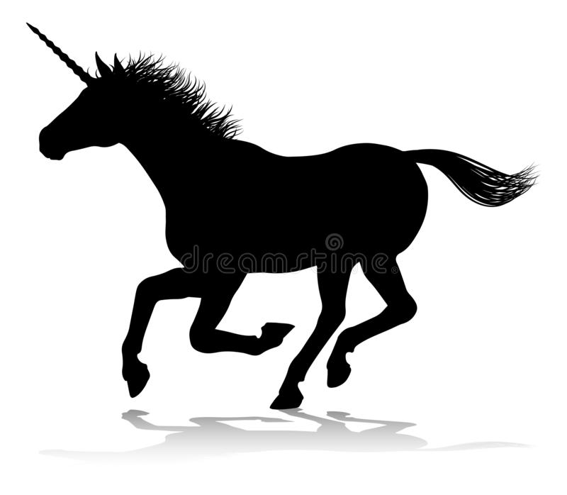 Unicorn Horse Galloping stock vector  Illustration of greek