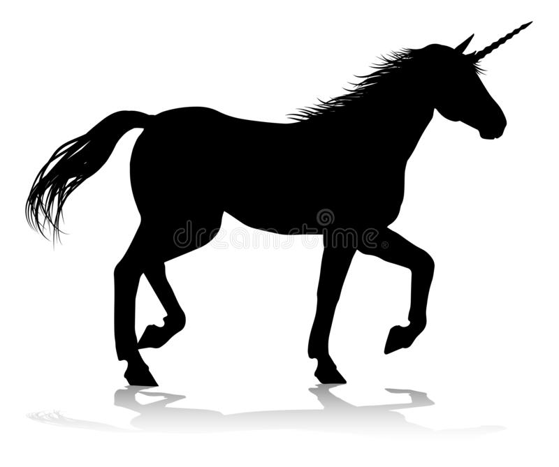 Unicorn Silhouette stock vector  Illustration of horses
