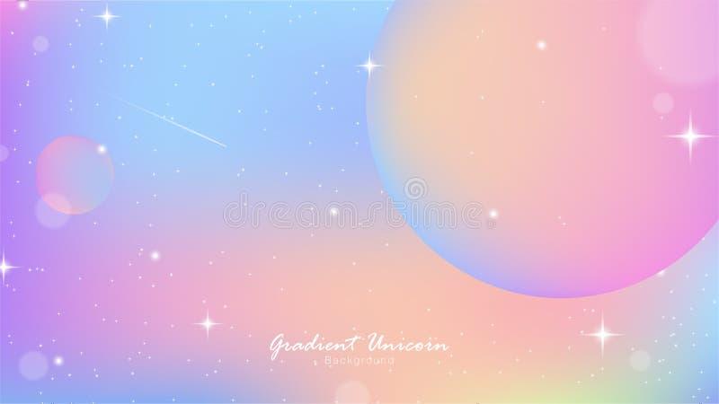 Unicorn sky Gradient 07 stock illustration
