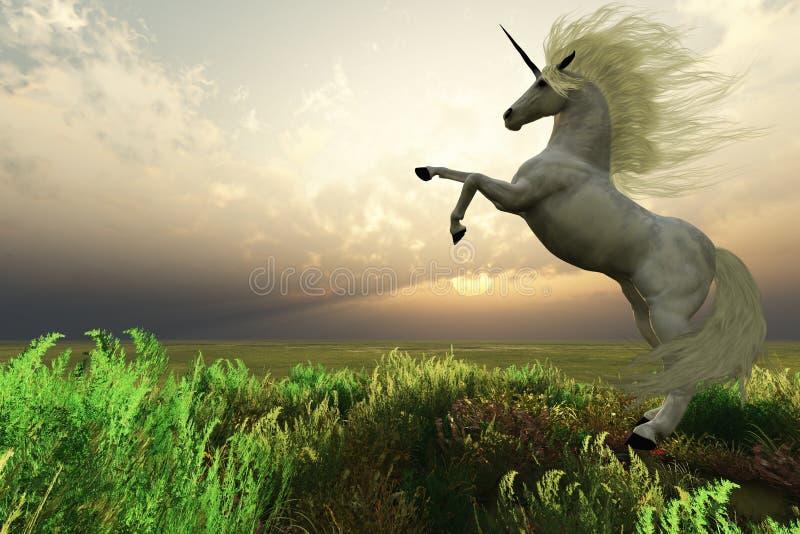 Unicorn Stag royalty free stock image