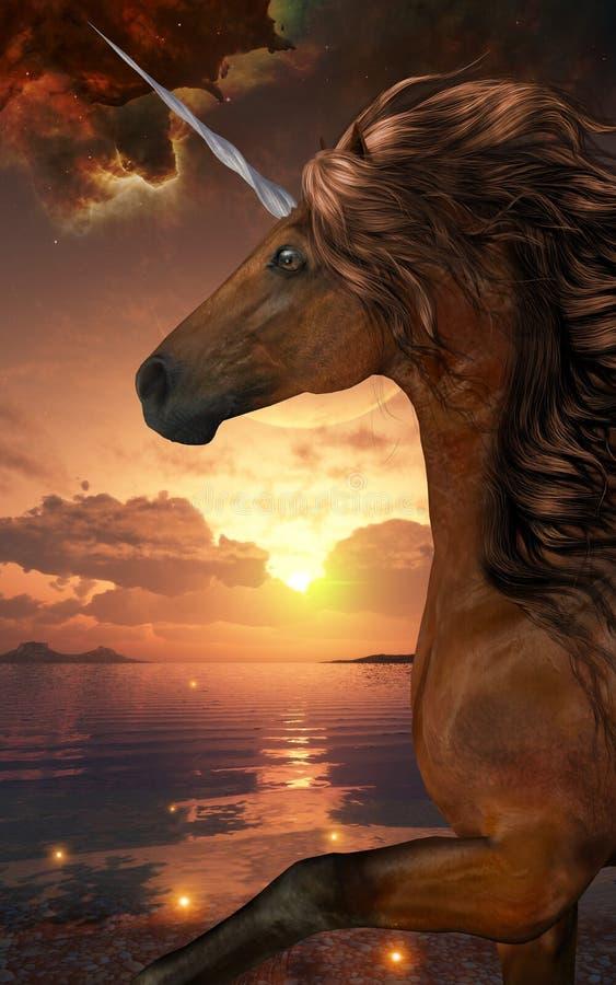 Unicorn Stargazer stock illustrationer