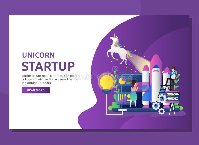 Unicorn start up business concept stock illustration