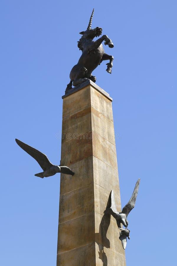 Unicorn statue in inverness scotland royalty free stock photos