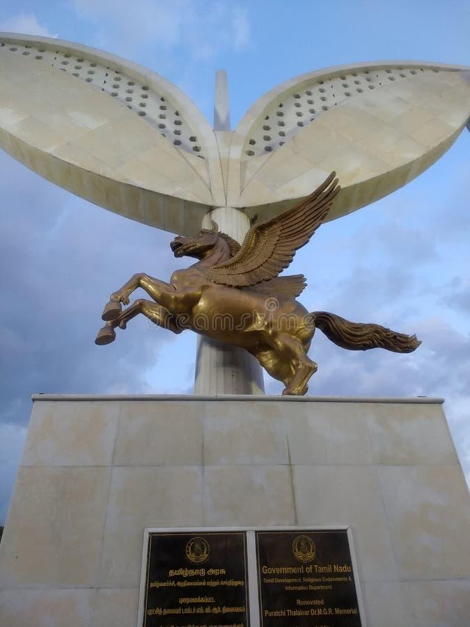 Unicorn statue stock photos