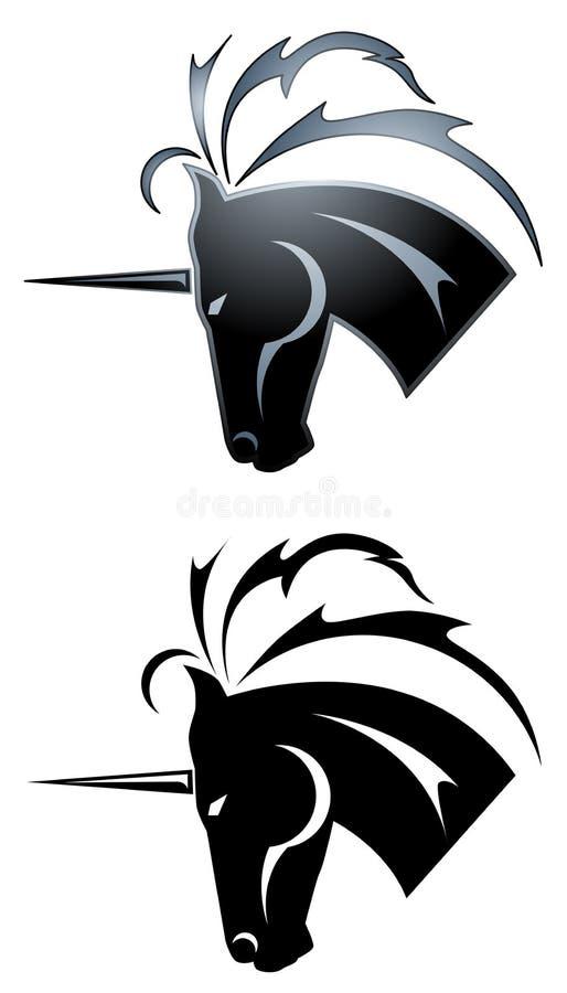 Unicorn tattoo vector illustration