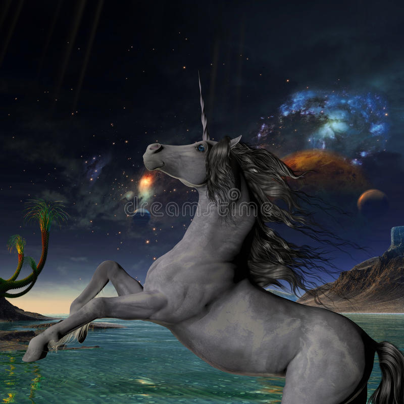 Unicorn Universe royaltyfri illustrationer