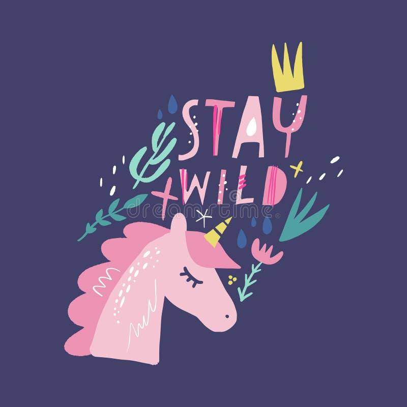 Unicorn vector, cute nursery wall art, animal prints, pastel baby room decor pictures, clip art. Illustrator EPS and JPG vector illustration