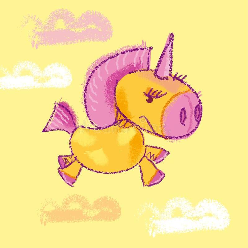 Unicorn royalty free illustration