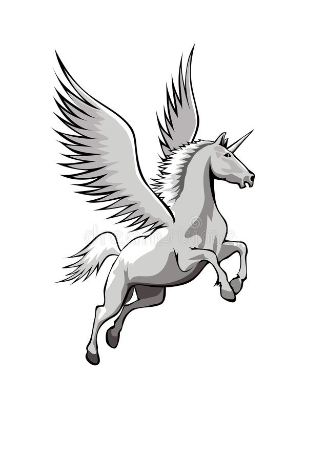Unicorn With Wings Royalty Free Stock Photography Image