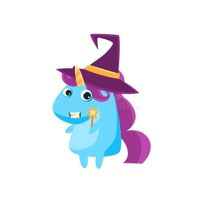 Unicorn In Witch Costume royalty illustrazione gratis