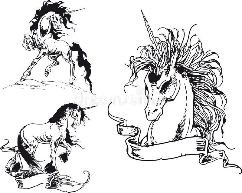 Unicorne stock photo