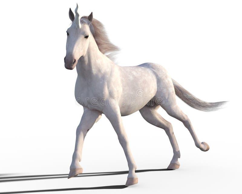 Unicornio aislado stock de ilustración