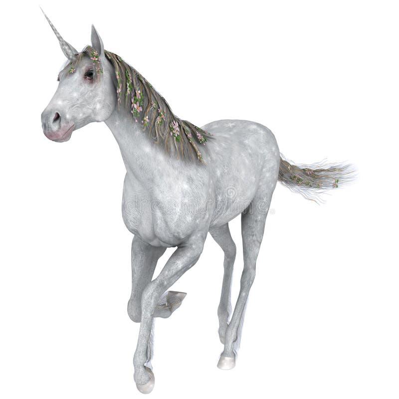 Unicornio blanco ilustración del vector