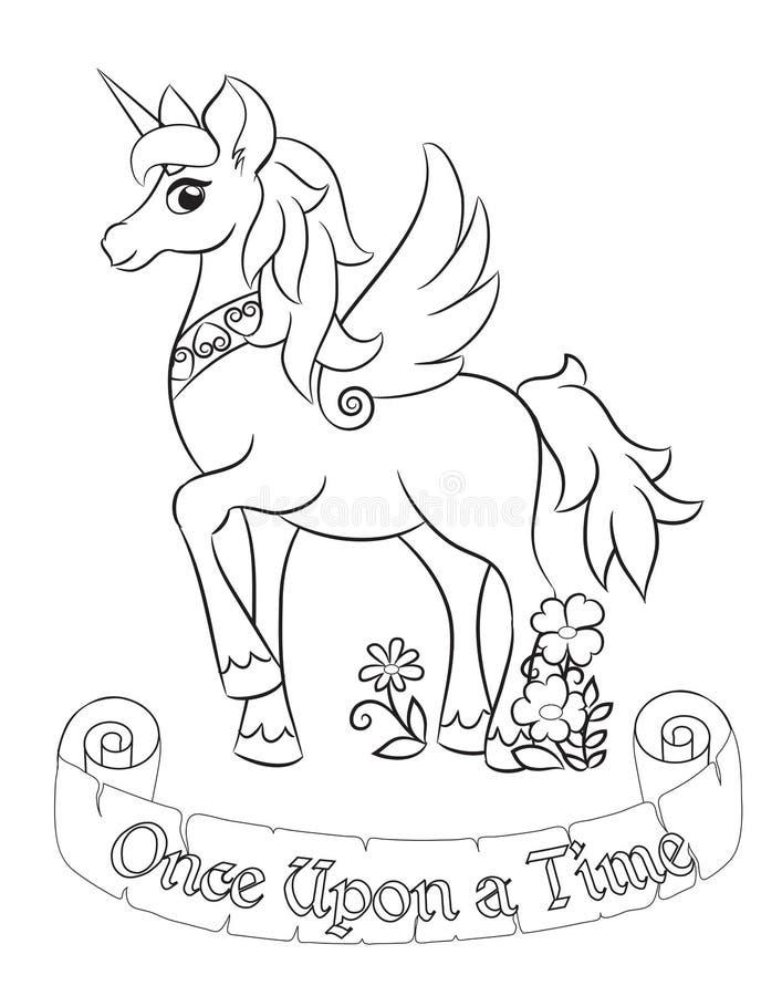 Unicornio blanco fabuloso libre illustration