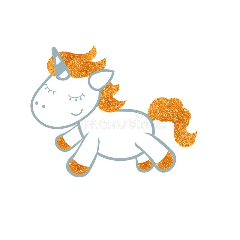 Unicornio en el fondo blanco ilustración del vector