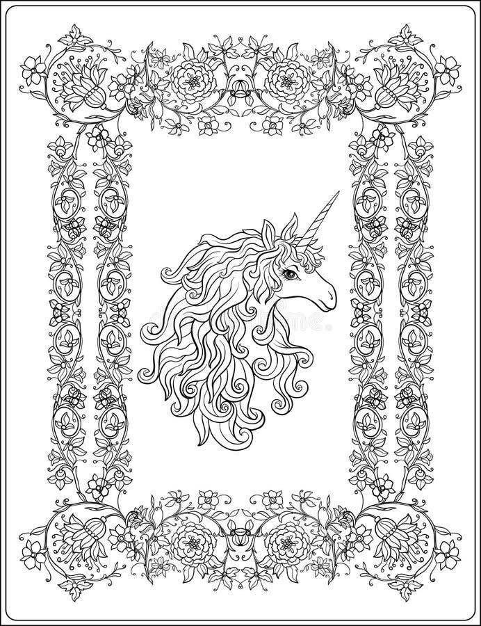 Unicornio En El Marco, Arabesque En El Estilo Real, Medieval Ou ...