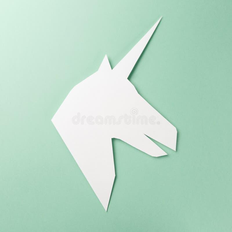 Unicornio en fondo de la menta ilustraciones imagen de archivo libre de regalías