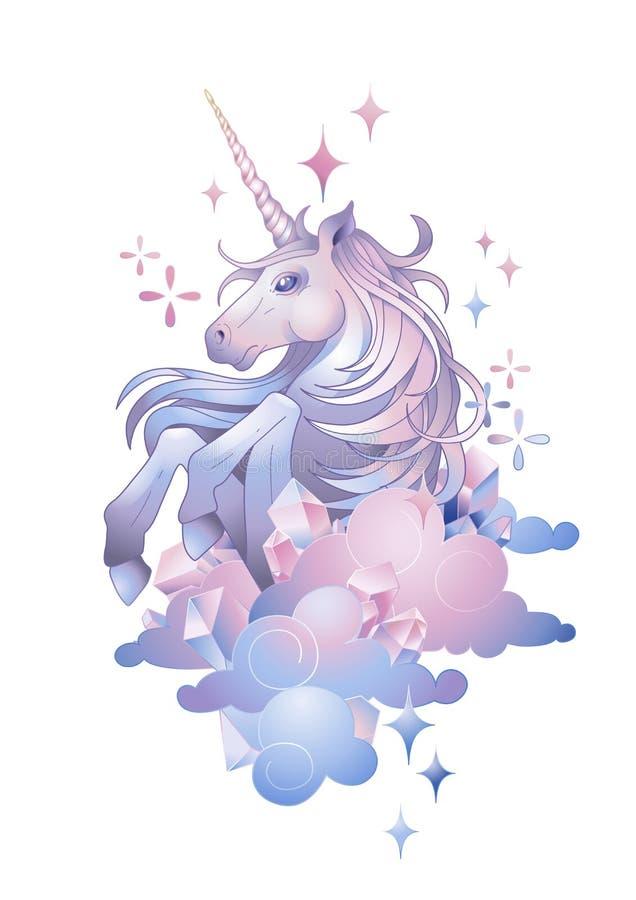 Unicornio gráfico lindo stock de ilustración