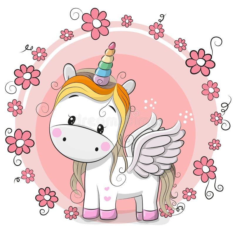 unicornio lindo de la historieta fotografía de archivo