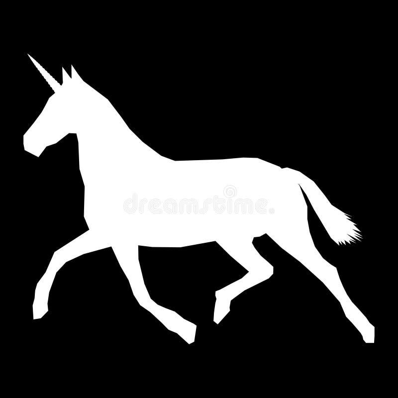 Unicornio minimalistic blanco corriente fotos de archivo