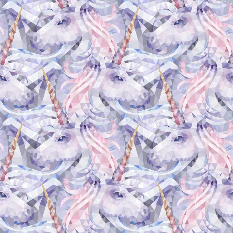 Unicornio polivinílico bajo gráfico stock de ilustración