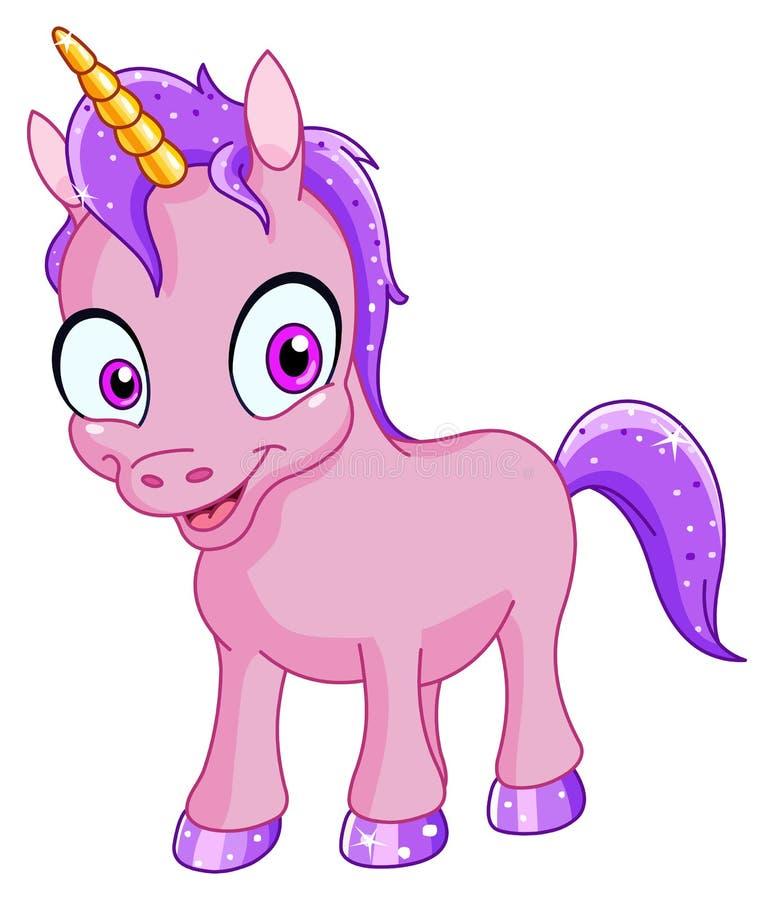 Unicornio sonriente stock de ilustración