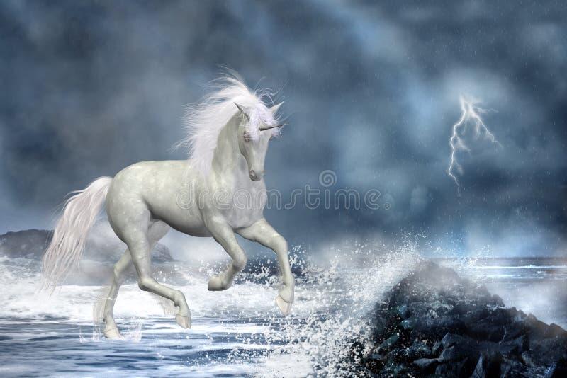 Unicorno bianco illustrazione di stock