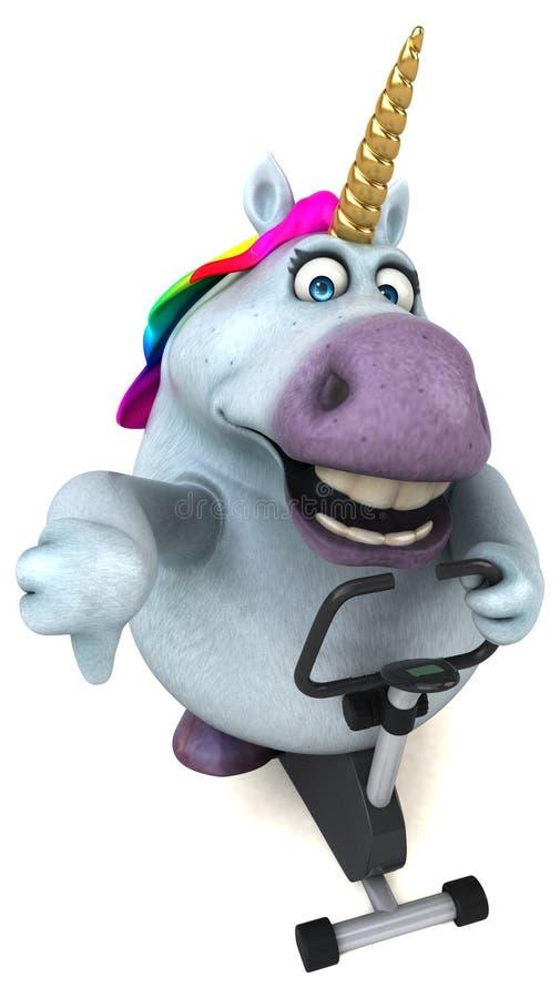 Unicorno di divertimento - illustrazione 3D royalty illustrazione gratis