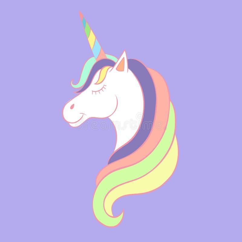 Unicorno di fiaba, schizzo per il libro da colorare, concetto di fantasia royalty illustrazione gratis