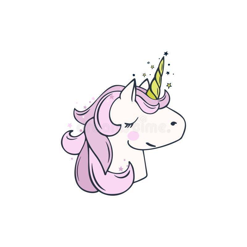 Unicorno di magia di vettore illustrazione di stock