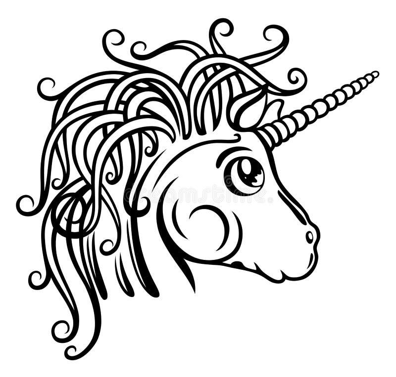 Unicorno, fantasia illustrazione di stock