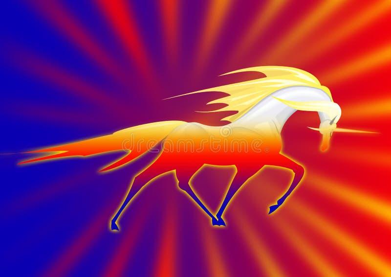 Unicorno fantastico illustrazione vettoriale