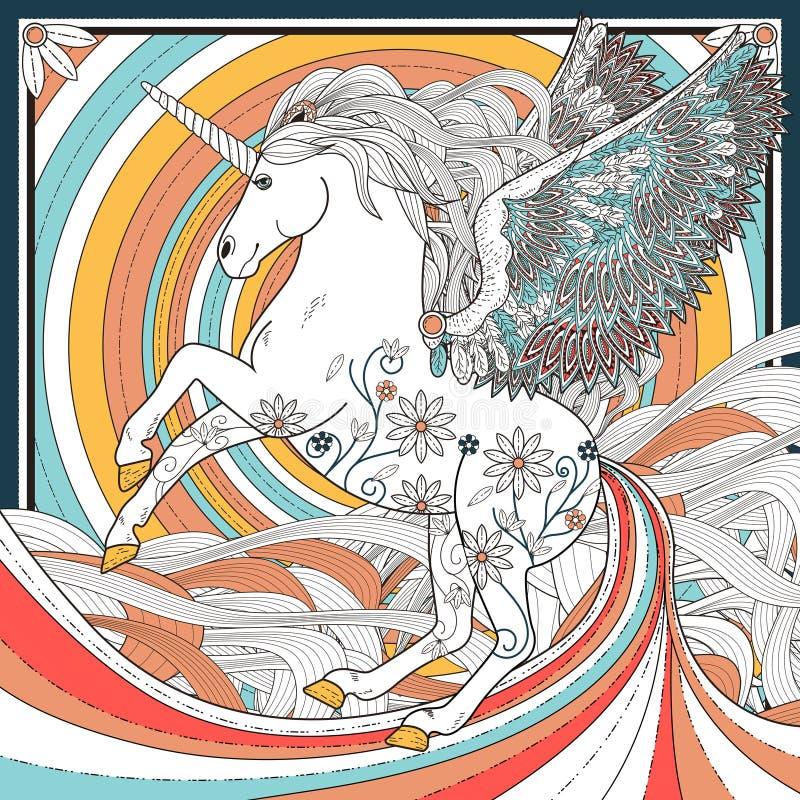 unicorno fantastico illustrazione di stock