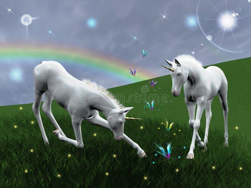 unicorns stock illustrationer