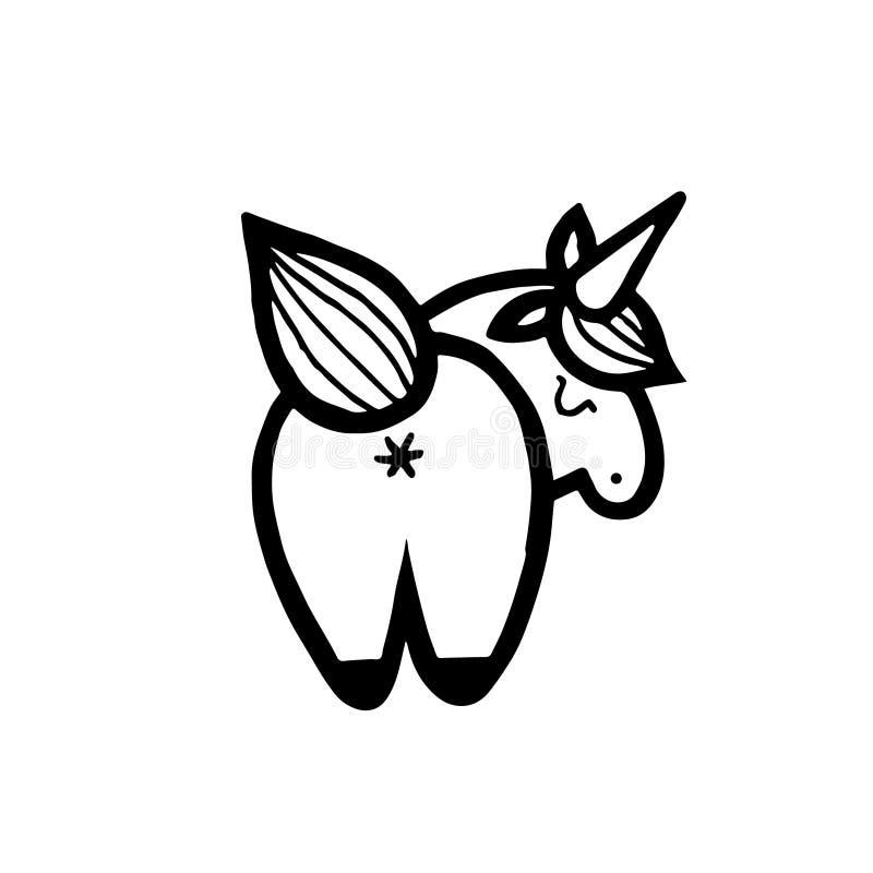 unicorns Ilustração do vetor isolada no fundo branco ilustração stock
