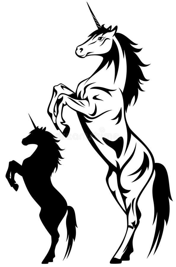 unicornvektor royaltyfri illustrationer