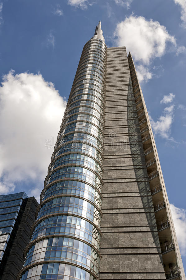 Unicredit torn, Milan royaltyfria foton