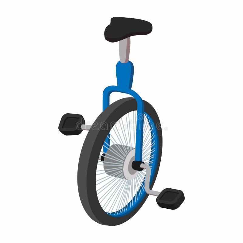 Unicycle, één beeldverhaal van de wielfiets royalty-vrije illustratie