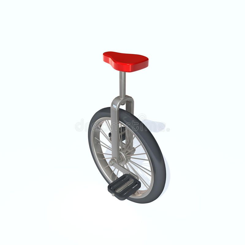 Download Unicycle stock illustration. Image of sport, circus, metal - 12017537