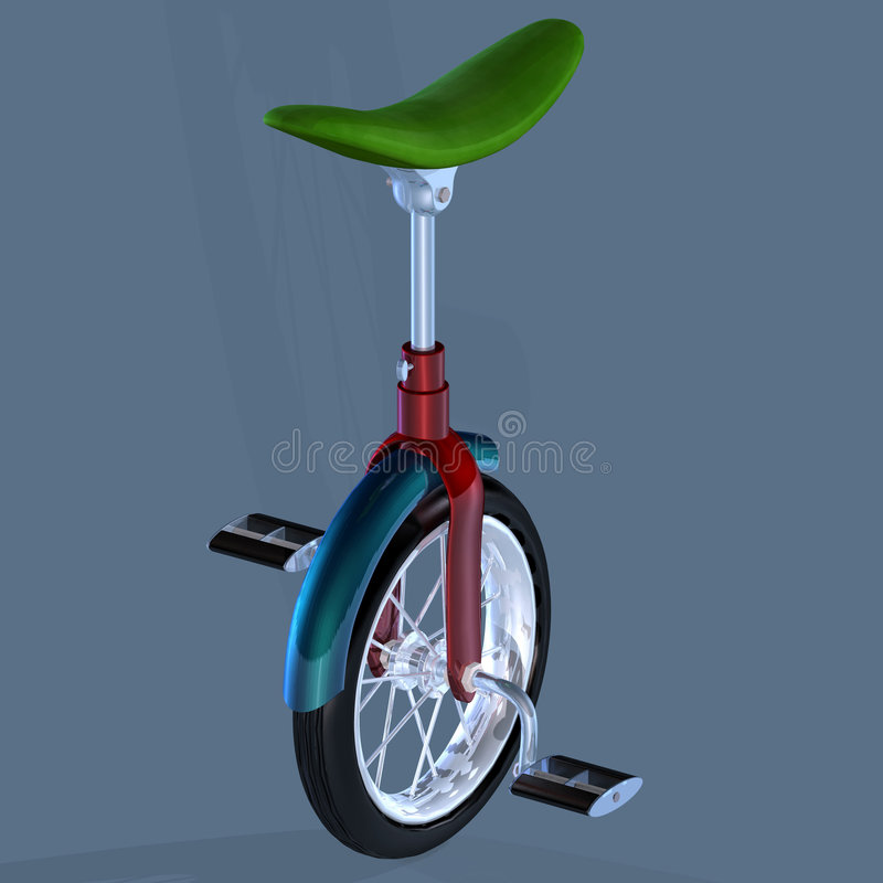 Download Unicycle stock illustration. Illustration of white, fitness - 3507805