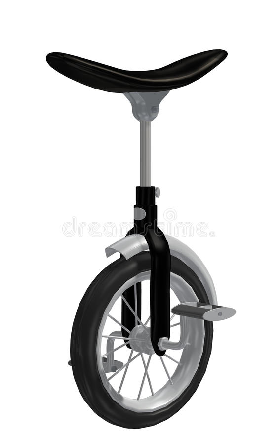 Download Unicycle stock illustration. Image of bike, pedal, pedals - 9828055