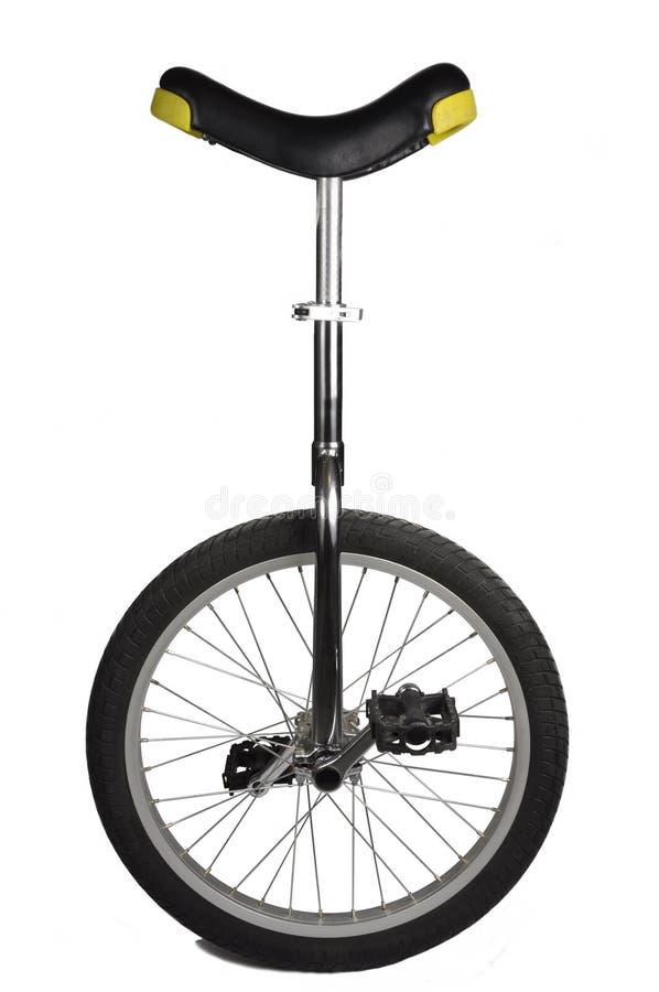 Unicycle getrennt auf Weiß lizenzfreies stockbild
