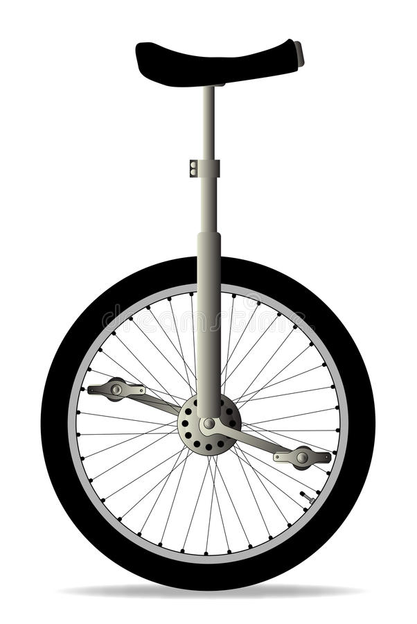 Unicycle op Wit stock illustratie
