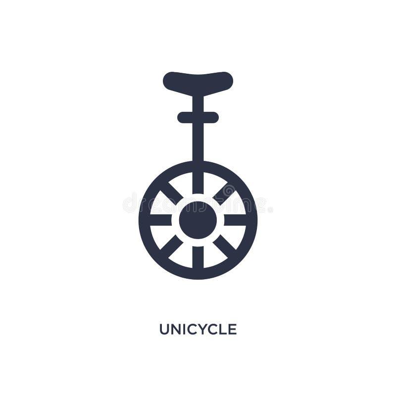 unicycle pictogram op witte achtergrond Eenvoudige elementenillustratie van magisch concept vector illustratie