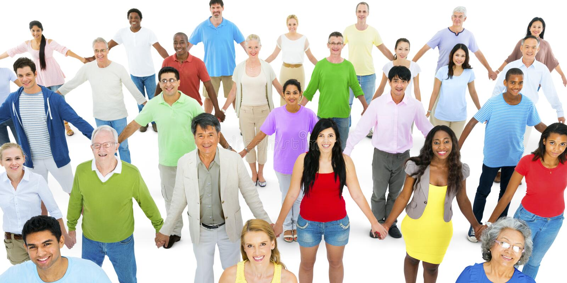 Unidad étnica de la unidad de la variación de la pertenencia étnica de la diversidad diversa foto de archivo