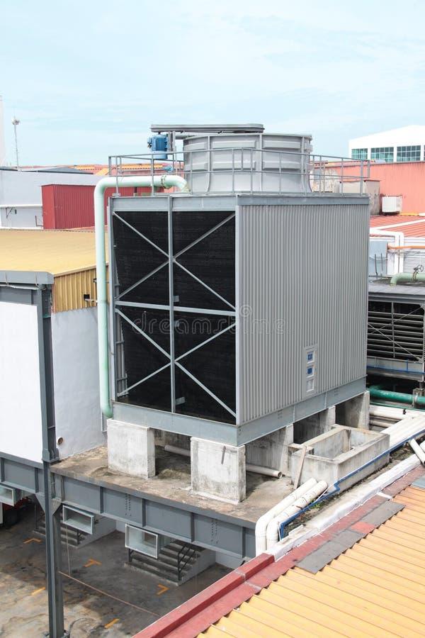 Unidad al aire libre condicional del aire refrigerado por agua gigante fotos de archivo libres de regalías