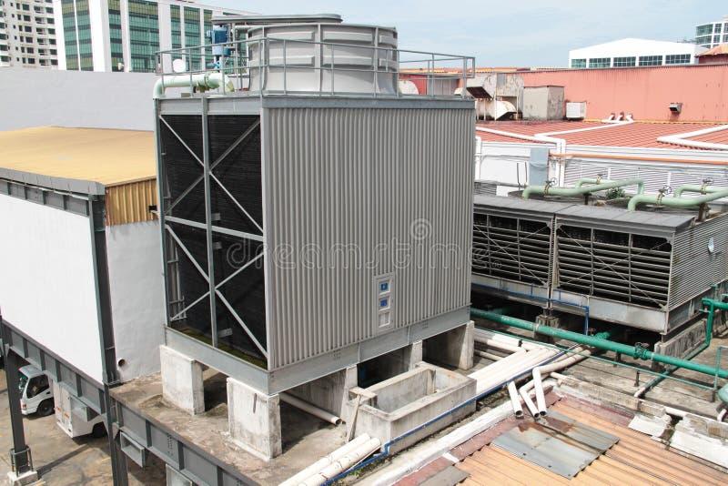Unidad al aire libre condicional del aire refrigerado por agua gigante fotos de archivo